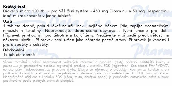 Diovarix micro tbl.120