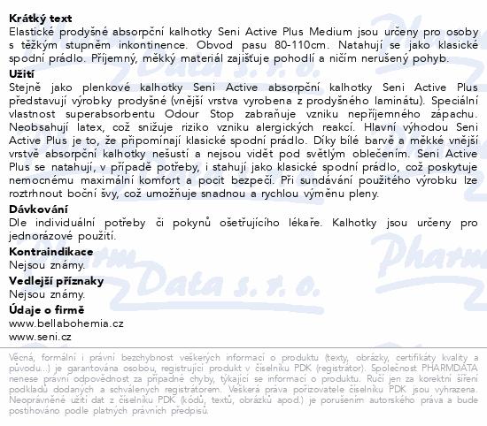 Seni Active Plus Medium ink.plen.kalhotky 10ks