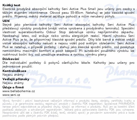 Seni Active Plus Small 10ks ink. plen. kalh.