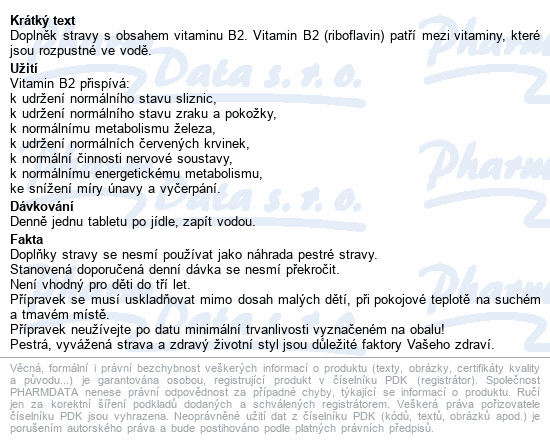 Riboflavin Generica tbl.60