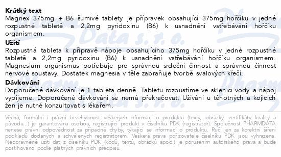 Magnex 375mg+B6 tbl.eff.20 Vitabalans
