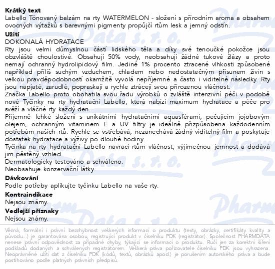 LABELLO Tón. balzám na rty WATERMELON 4.8g č.85235