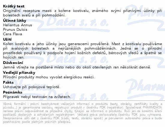 TOPVET Kostivalová bylinná mast 50ml