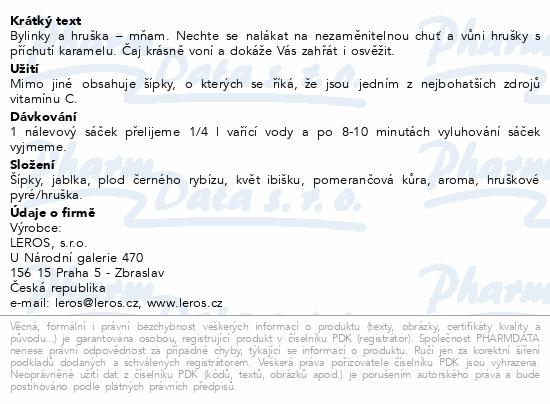 LEROS Čajovna Hruška n.s.20x2.5g