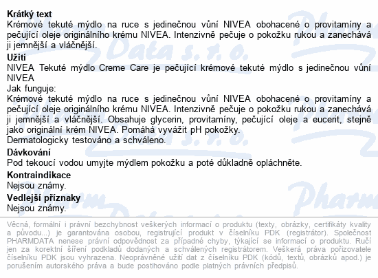 NIVEA tekuté mýdlo Creme Care 250ml 82403
