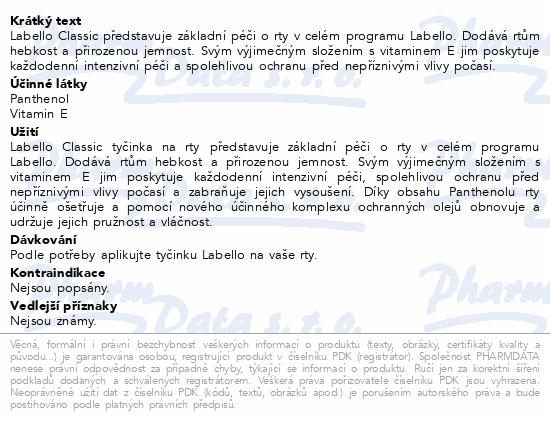 LABELLO Balzám na rty Original duopack č.85002