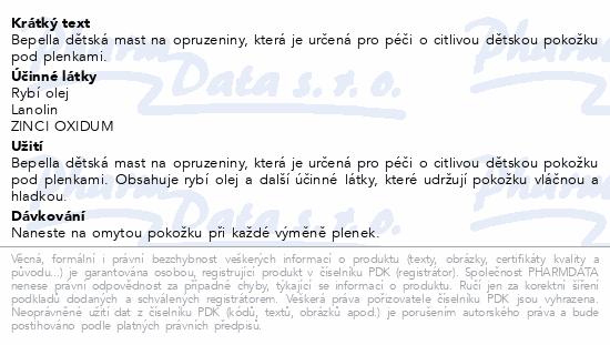Bepella dětská mast na opruzeniny 100g Dr.Müller