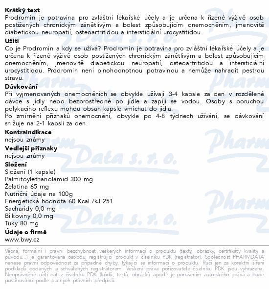 Brainway Prodromin cps.100