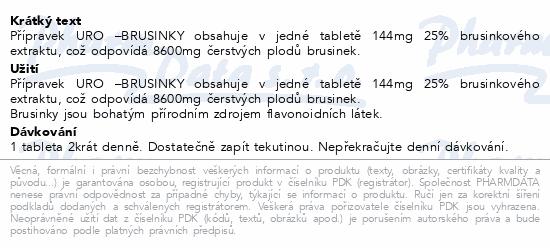 URO - Brusinky tbl.60