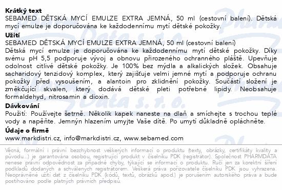 SEBAMED Dětská mycí emulze extra jemná 50ml cest.b