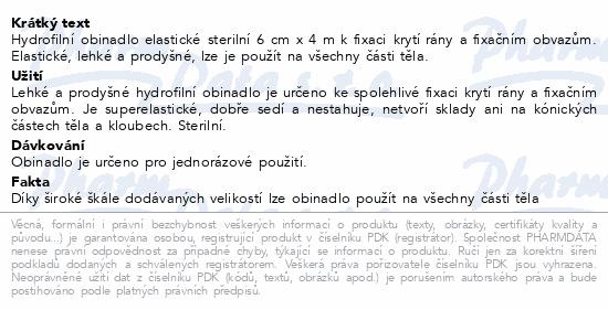 Obin.hydrofil.sterilní elastické 10cmx4m 1ks