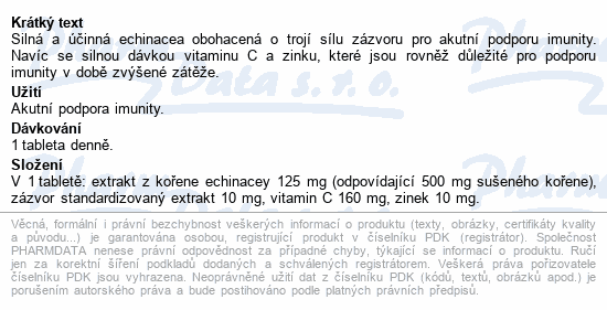 GS Echinacea Akut zázvor tbl.15
