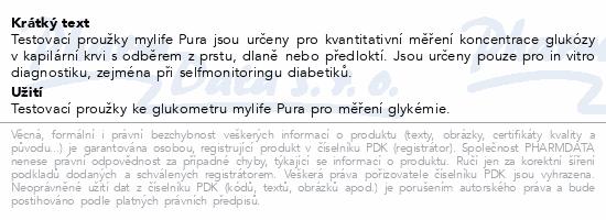 mylife Pura proužky diagnostické 50ks