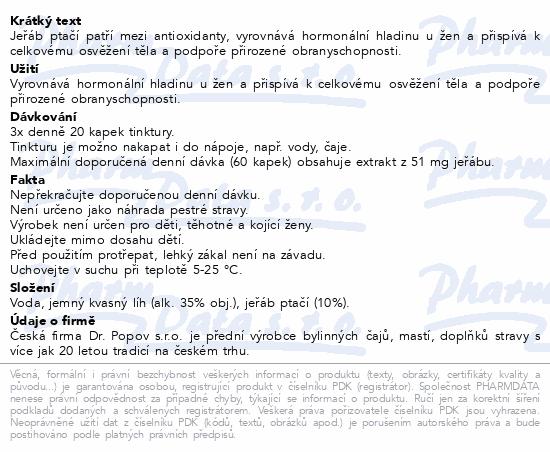 Dr.Popov Kapky bylinné Jeřáb ptačí 50ml