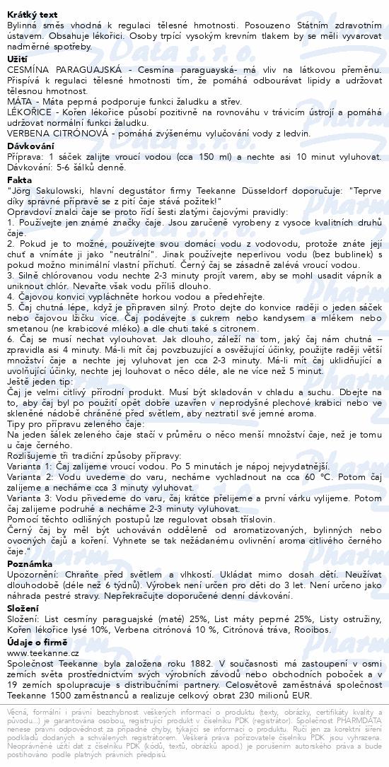 TEEKANNE Štíhlá linie bylinný n.s.10x2g NOVÁ REC.