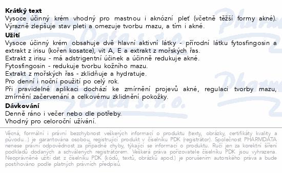 RYOR Aknestop Krém s fytosfingosinem a irisem 50ml