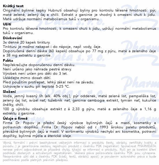 Dr.Popov Kapky bylinné Hubnutí 50ml