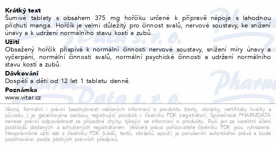 Vitar Hořčík 375 mg mango eff.tbl. 20