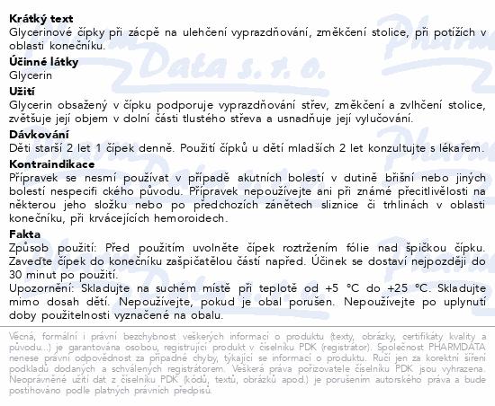 Glycerinové čípky 1.0g dětské 12 čípků Dr.Müller