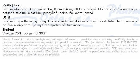 Curi-Med Fixační obinadlo krep.vazba 8cm x4m 20ks