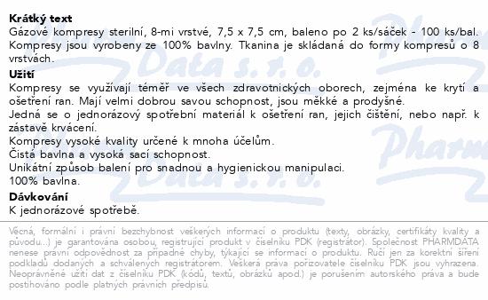 Curi-Med Gáza kompr.ster. 7.5x7.5cm 100ks