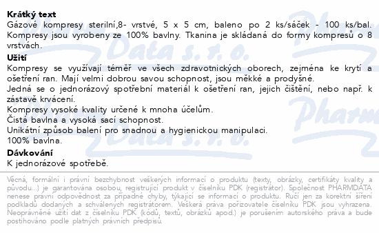Curi-Med Gáza kompr.ster. 5x5cm 100ks