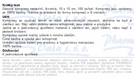 Curi-Med Gáza kompr.nester. 10x10cm 100ks