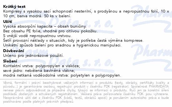 Curi-Med Kompres nesterilní 10x10cm 50ks