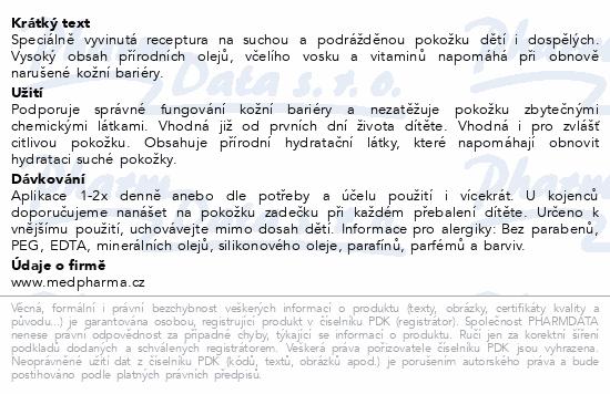 MedPharma Calcium Pantothenicum mast NATURAL 30g