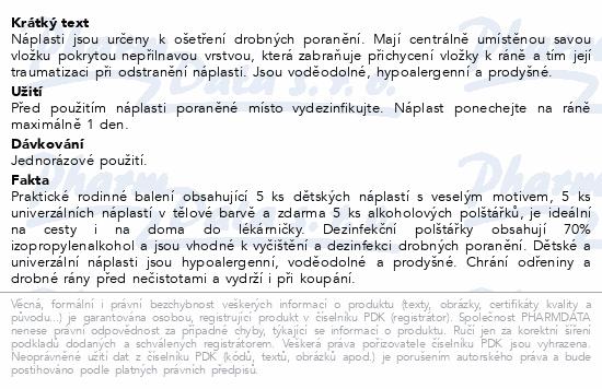 MIXPORE Náplasti dětské a univ.+alk.polštářky 15ks