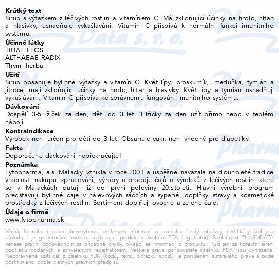 NONTUSYL Bylinný sirup 100ml Fytopharma