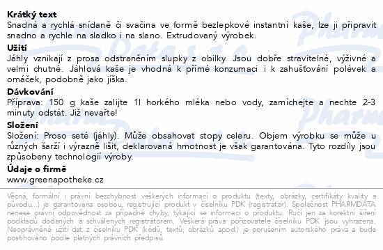 Green Apotheke Kaše jáhlová 200g
