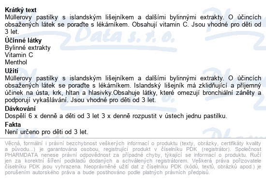 Müllerovy pastilky s isl.lišejníkem bez cukru 12ks