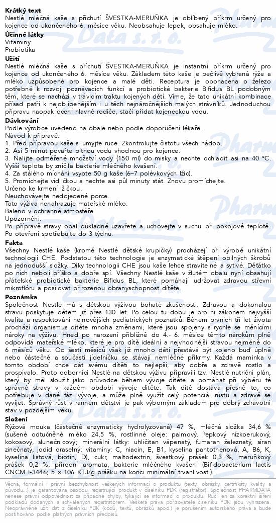 NESTLÉ Mléčná kaše Švestka-meruňka 300g
