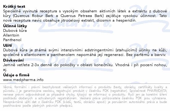 MedPharma Dubová kůra gel 75g