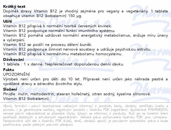 NATURVITA Vitamín B12 tbl.60