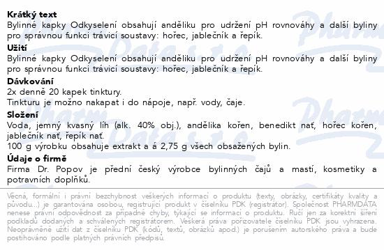 Dr.Popov Kapky bylinné Odkyselení 50ml