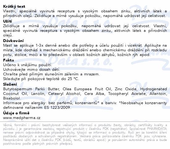 MedPharma Zinková mast NATURAL 30g