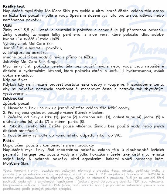 MoliCare Skin Napuštěné Mycí žínky 8ks (Menalind)