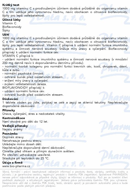 Vitamín C 1000mg+šípky 25mg+bioflav.34mg tbl.30+10