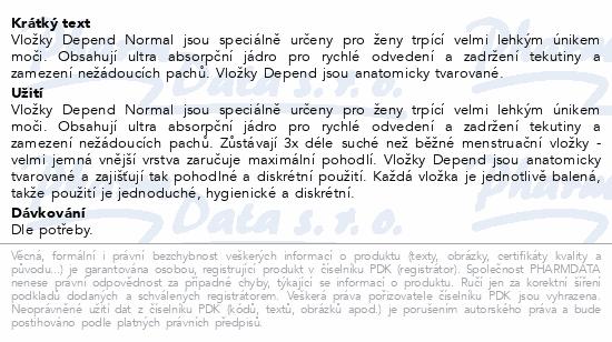 Depend Normal inkont.vložky ženy Duopack 2x14ks
