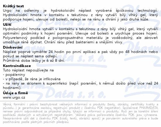 URGO NA ODŘENINY hydrokol.nápl.7.2x4cm 5ks