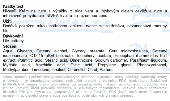 NIVEA krém na ruce Refreshing Care 75ml 84640