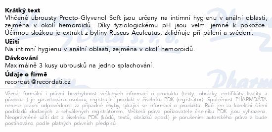 Procto-Glyvenol Soft - vlhčené ubrousky 30ks