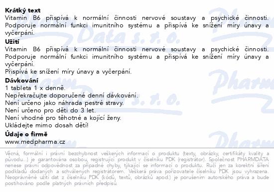 MedPharma Pyridoxin (vitamin B6) 20mg tbl.67