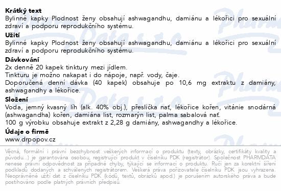 Dr.Popov Kapky bylinné Plodnost ženy 50ml