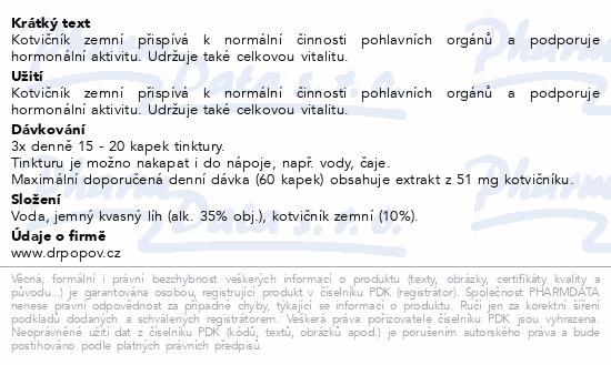 Dr.Popov Kapky bylinné Kotvičník zemní 50ml