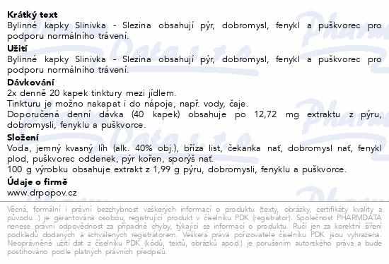 Dr.Popov Kapky bylinné Slinivka-Slezina 50ml
