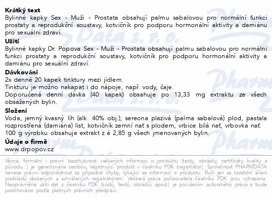 Dr.Popov Kapky bylinné Sex-Muži-Prostata 50ml