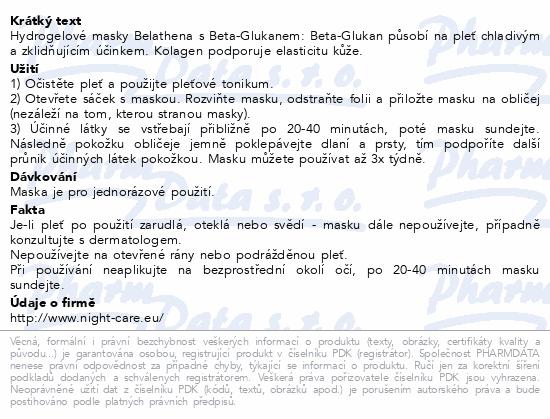 BELATHENA Hydrogelové masky s BETA-GLUKANEM 4 ks